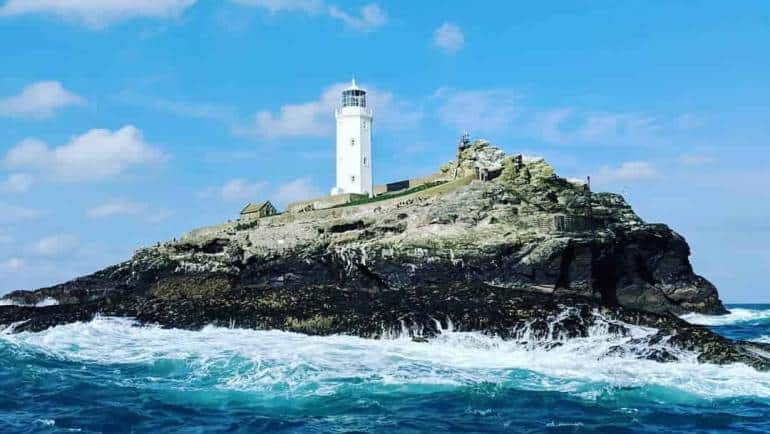 Godrevy Lighthouse in St Ives bay